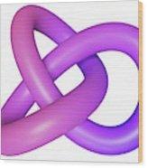 Abstract Torus Knot Wood Print