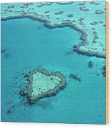 Aerial Of Heart-shaped Reef At Hardy Wood Print