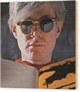 Andy Warhol In New York, United States Wood Print