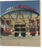 Angel Stadium Of Anaheim Wood Print