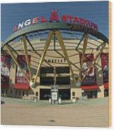Angel Stadium Of Anaheim Wood Print