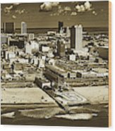 Atlantic City Wood Print