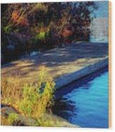 Autumn Colors In Kearney Lake Wood Print