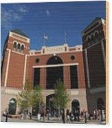 Baltimore Orioles V Texas Rangers Wood Print