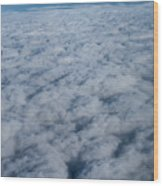 Beautiful Cloudscape High Up In The Sky. Wood Print