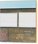 2 Blank Billboards Wood Print