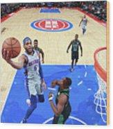 Boston Celtics V Detroit Pistons Wood Print