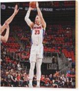 Brooklyn Nets V Detroit Pistons Wood Print