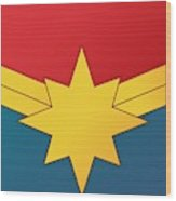 Captain Marvel 2019  Wood Print
