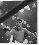 Cassius Clay After Winning Championship Wood Print