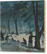 Central Park, Winter Wood Print