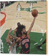 Chicago Bulls V Milwaukee Bucks Wood Print