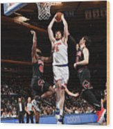 Chicago Bulls V New York Knicks Wood Print