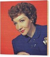 Claudette Colbert, Vintage Movie Star Wood Print