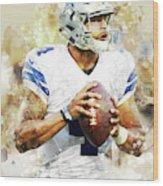 Dallas Cowboys.dak Prescott. Wood Print
