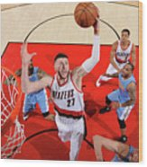 Denver Nuggets V Portland Trail Blazers Wood Print
