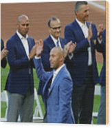 Derek Jeter Ceremony Wood Print