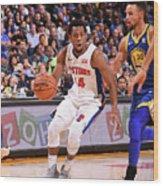 Detroit Pistons V Golden State Warriors Wood Print