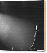 Entertainer Frank Sinatra Performing On Wood Print