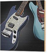 Fender Kurt Cobain Mustang Electric Wood Print