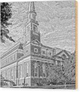 First Baptist Church Columbia Wood Print