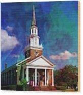 First Baptist Church Myrtle Beach S C Wood Print