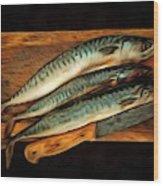 Fresh Mackerels Wood Print