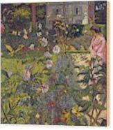 Garden At Vaucresson  Wood Print