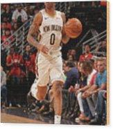 Golden State Warriors V New Orleans Wood Print