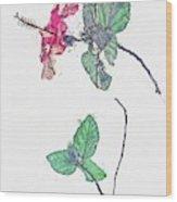 Hibiscus 2 -  Watercolor By Ahmet Asar Wood Print