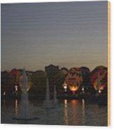 Hot Air 2018 Balloon Glow Wood Print