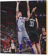 Houston Rockets V Detroit Pistons Wood Print