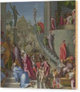Joseph With Jacob In Egypt  Wood Print
