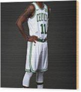 Kyrie Irving Boston Celtics Portraits Wood Print