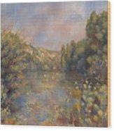 Lakeside Landscape  Wood Print