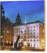 Liverpool's Historic Waterfront Wood Print