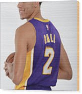 Los Angeles Lakers Introduce Lonzo Ball Wood Print