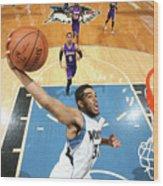 Los Angeles Lakers V Minnesota Wood Print
