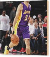 Los Angeles Lakers V Portland Trail Wood Print
