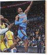 Los Angeles Lakers Vs Oklahoma City Wood Print