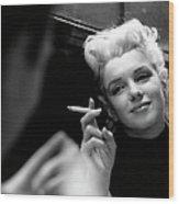 Marilyn Candid Moment Wood Print