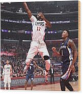 Memphis Grizzlies V Los Angeles Clippers Wood Print