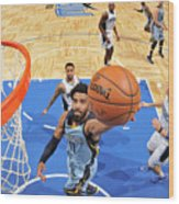 Memphis Grizzlies V Orlando Magic Wood Print