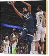 Minnesota Timberwolves V Denver Nuggets Wood Print
