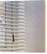 Modern Window Blind Wood Print