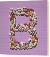 Multi-vitamin Pills And Capsules Wood Print