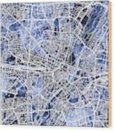 Munich Germany City Map Wood Print