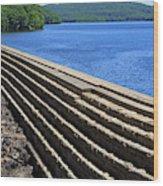 New Croton Dam At Croton On Hudson New York Wood Print
