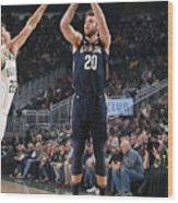 New Orleans Pelicans V Milwaukee Bucks Wood Print