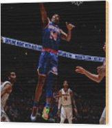 New York Knicks V Denver Nuggets Wood Print